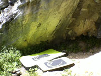 Uso del crashpad Dead Point de Edelrid